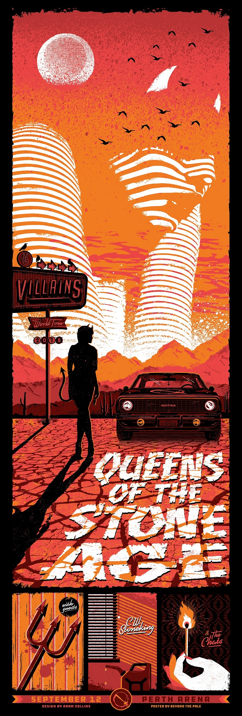 new queens of the stone age posters from beyond the pale